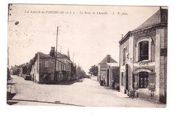 49 La Salle De Vihiers La Route De Chemillé Café Cachet 1942 - Other Municipalities