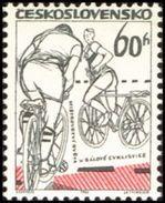 Czechoslovakia / Stamps (1965) 1412: World Championship In Cycle-ball; Painter: Vladimir Kovarik - Cyclisme
