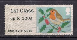 GB 2012 QE2 1st Up To 100 Gms Post & Go Christmas Robin ( J701) - Great Britain