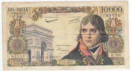 10000 Francs Bonaparte Type 1955, F51.10, P136, 07/11/1957, U.102, B - 1871-1952 Antichi Franchi Circolanti Nel XX Secolo
