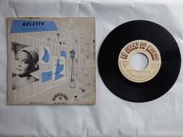 EP 45 T DISQUE  ARLETTY   LABEL  LE CHANT DU MONDE LD 45 3017   MON HOMME - Disco, Pop