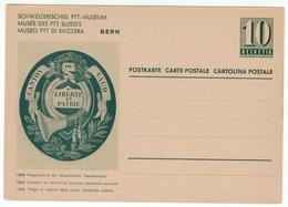 Suisse // Schweiz // Switzerland // Entiers Postaux // Entier Postal Neuf, Image Musée Des PTT Suisse - Stamped Stationery