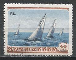 Russia 1954. Scott #1710 (U) Sailboat Race * - 1923-1991 URSS