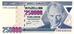 Turkey P.211 250000 Lirais 1998 Unc - Turkey