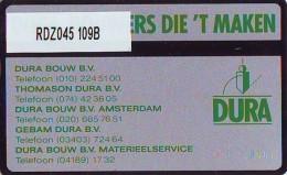 Telefoonkaart  LANDIS&GYR NEDERLAND * RDZ.045 109B * DURA * Pays Bas Niederlande PRIVATE  ONGEBRUIKT * MINT - Nederland