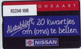 Telefoonkaart  LANDIS&GYR NEDERLAND * RDZ.046 109B * NISSAN * AUTO * Pays Bas Niederlande PRIVATE  ONGEBRUIKT * MINT - Niederlande
