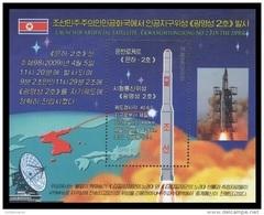 North Korea 2009 Mih. 5462 (Bl.724) Space. Satellite Kwangmyongsong 2 MNH ** - Korea, North
