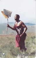 TARJETA DE SWAZILAND DE UN GUERRERO SWAZI - Swaziland