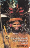 TARJETA DE SWAZILAND DEL REY MSWATI III (KING) - Swaziland