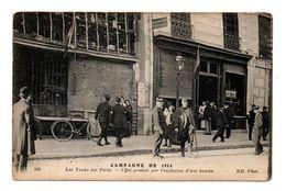"""75 - PARIS . CAMPAGNE DE 1914 . LES """" TAUBE """" SUR PARIS . EFFET PRODUIT PAR L'EXPLOSION D'UNE BOMBE - Réf. N°7848 - - Non Classés"""