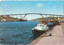 6Rm-023: St.Annabaai With Juliana Bridge Curaço -  > Evere Belgica: De Postzegel Is Weg - Boten... - Cartes Postales