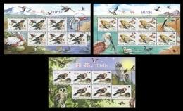 North Korea 2012 Mih. 5922/24 Fauna. Birds (3 M/S) MNH ** - Korea (Nord-)