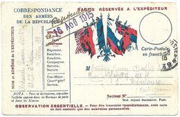 CM 52  Correspondance Militaire D'Août 1915 Cachet Trésor Et Postes Simple Cercle N°(SP)39 QG De La 1ère Armée - Marcophilie (Lettres)