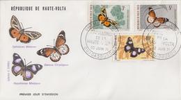 Enveloppe  FDC  1er  Jour   HAUTE  VOLTA   Papillons  1971 - Farfalle