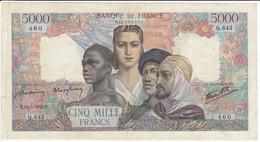5000 F Empire Français, Type 1942, F47.27, P103, 24/05/1945, Q.643, TB - 1871-1952 Anciens Francs Circulés Au XXème