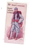 Vignette Militaire Delandre - 119ème Régiment D'infanterie - Militario