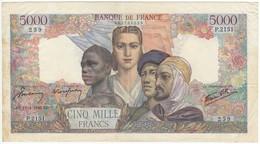 5000 F Empire Français, Type 1942, F47.52, P103, 18/04/1946, P.2151, TB- - 1871-1952 Anciens Francs Circulés Au XXème