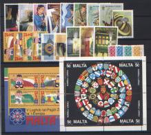 Malta 1993 Annata Completa / Omplete Year Set **/MNH VF - Malte