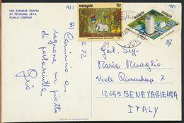 °°° 10879 - MALAYSIA - KUALA LUMPUR - THE SIAMESE TEMPLE - 1972 With Stamps °°° - Malesia