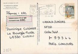 D251 - Entier / Stationery / PSC - Carte Postale Le Corbeau Et Le Renard - Prêts-à-poster:  Autres (1995-...)