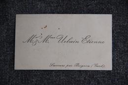 Carte De Visite De Monsieur Urbain Etienne De LASCOURS Par BRIGNON ( GARD) - Cartes De Visite