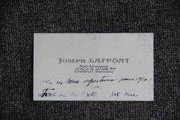 Carte De Visite De Monsieur Joseph LAFFONT, Sous Lieutenant Tirailleurs Marocains. - Cartes De Visite