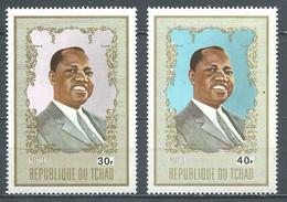 Tchad YT N°253/254 Président Tombalbaye Neuf ** - Tsjaad (1960-...)