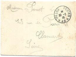 CM 63  Correspondance Militaire Du 30-03-15 Cachet Trésor Et Postes Simple Cercle N°(SP)49 97ème Régiment D'Infanterie - 1. Weltkrieg 1914-1918