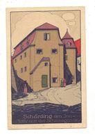 A 4780 SCHÄRDING, Motiv Aus Der Schlossgasse, Kl. Druckstelle, Steindruck - Schärding