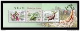 North Korea 2016 Mih. 6305/07 Flora. Medicinal Plants (booklet Sheet) MNH ** - Corée Du Nord