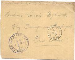 CM 64  Correspondance Militaire Du 18-07-15 Cachet Trésor Et Postes Simple Cercle N°(SP)50 Gare Régulatrice - Storia Postale