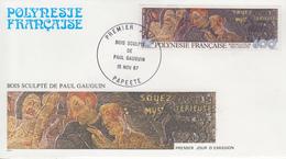 Enveloppe  FDC  1er Jour  POLYNESIE   Oeuvre  De   GAUGUIN    1987 - FDC