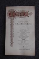 Menu Du Grand Hôtel BENES - Banquet Des Anciens Internes D'Hôpitaux Le 4 Novembre 1903 - Menu