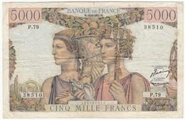 5000 F Terre Et Mer, Type 1949, F48.05, P131, 16/08/1951, P.79, TB- - 1871-1952 Frühe Francs Des 20. Jh.