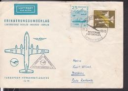 DDR Erstflug Turboprop Verkehrsflugzeug IL 18 Berlin - Moskau 1960 - DDR