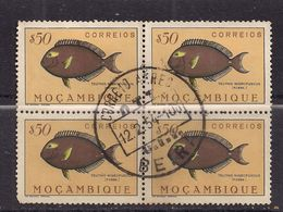 Mocambique $50 Block Of 4 Used Stamps ( J571 ) - Mozambique