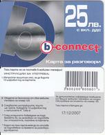 BULGARIA - Lips, B Connect Prepaid Card 25 Leva, Exp.date 17/12/07, Sample - Bulgaria