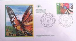 FRANCE 3198 FDC Premier Jour Union Mondiale Pour La Nature UICN Logo Macareux étoile De Mer Enfant Papillon - 1990-1999