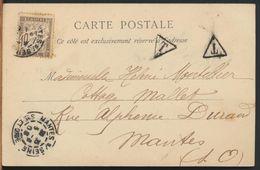 °°° 10888 - FRANCE - LA PRINCESSE LOUISE DE SAXE ET MONSIEUR ANDRE' GIRON - 1903 With Stamps °°° - Case Reali