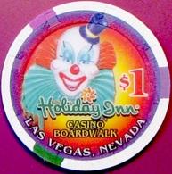 $1 Casino Chip. Boardwalk By Holiday Inn, Las Vegas, NV. L81. - Casino