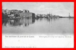 CPA  LA CANEE (Grèce)   Vue Intérieur Du Port, Bateaux De Pêche...H088 - Grecia