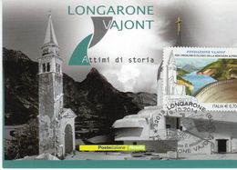 Longarone (BL) -2014  VAJONT  Attimi Di Storia - - FDC