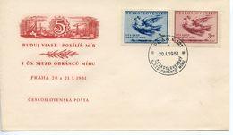 CZECHOSLOVAKIA - 1951 CZECHOSLOVAKIA PEACE CONGRESS   FDC4126 - FDC