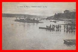 CPA  RABAT-SALE (Maroc)   Le Bac, Animé, Bateau à Vapeur, Barque...H097 - Rabat