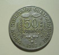 West African States 50 Francs 1987 - Monnaies