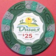 $25 Casino Chip. Dunes, Las Vegas, NV. Fantasy Chip. L82. - Casino