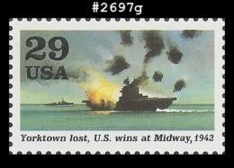 US 2697g St1 1992  World War II - Battle Of Midway - Blocs-feuillets