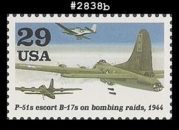 US 2838b St1 WWII - P-51s Escort Bombers B-17s - Blocs-feuillets