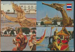 °°° 10908 - THAILAND - ROYAL BARGES IN PROCESSION ON CHAO PHYA RIVER - 1989 °°° - Tailandia