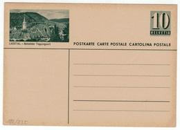 Suisse // Schweiz // Switzerland // Entiers Postaux // Entier Postal Neuf, Image Liestal-Beliebter Tagungsort - Stamped Stationery